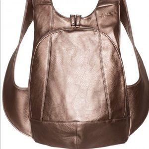 Arsayo vegan backpack Purse, bronze, M